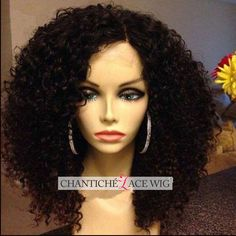Big Curly Middle Part Human Hair Lace Front Wigs Black. Brazilian Remy Human Hair Lace Front Wig With Bangs Nat. Curly Human Hair Lace Front Wigs With Bangs Natural Col. Curly Full Lace Wig, Black Curly Wig, Human Hair Lace Wigs, Remy Human Hair, Remy Hair, Human Wigs, Black Wig, Wig Styles, Curly Hair Styles