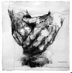 Alison Lambert (Hands Together, charcoal and pastel on paper)