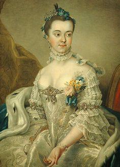 Herzogin Charlotte Amalie Wilhelmine von Holstein-Sonderburg-Plön, 1762, Stefan Torelli