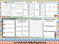 Just Reed~reading response graphic organizers on tpt