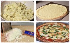 Pizza crust made out of cauliflower instead of dough...will have to try this