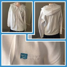 Norwegian Cruise Lines Hoodie Got this on a cruise a few years ago. Worn only a handful of times. In excellent condition. No rips or stains. Zips up in front and there are pockets on both sides. Very cozy. Norwegian Cruise Lines Jackets & Coats