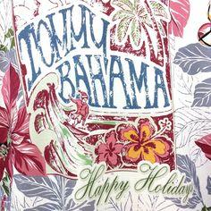 Mens Medium ~ Tommy Bahama Happy Holidays Silk Hawaiian Shirt Poinsettias Bells #TommyBahama #Hawaiian