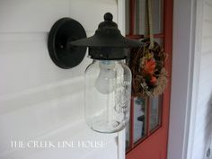 Need to replace the glass on an old porch light? A mason jar will do.