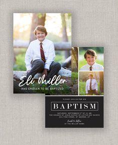 LDS Baptism Invitation - Eli Baby Boy Birth Announcement, Star Baby Showers, Baptism Invitations, Overnight Shipping, Lds, Couple Photos, Digital, Printer, Menu