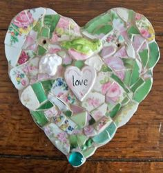 Mosaic Heart  LOVE by susanjenkinsart on Etsy,