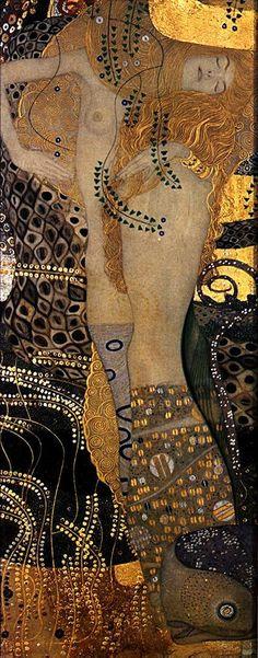 Gustav Klimt Water Serpents I. Klimt was a master at capturing female beauty. Klimt, Art Gallery, Art Works, Artist Inspiration, Art Nouveau, Artwork, Klimt Art, Symbolist, Beautiful Art