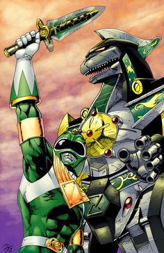 Green Ranger and Dragonzord
