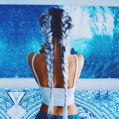 colored hair, hair goals, braids, hipster, hairstyle