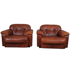 Italian Leather Lounge  Chairs | From a unique collection of antique and modern lounge chairs at http://www.1stdibs.com/furniture/seating/lounge-chairs/