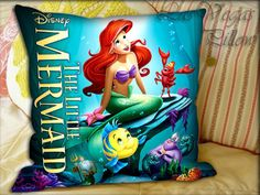 Ariel the Little Mermaid  Pillow Cover and by LASVEGASPILLOW, $14.00