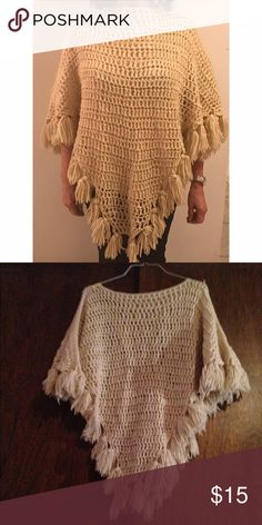 Vintage Tan Poncho Vintage Tan Poncho. In excellent condition! Feel free to ask any questions you may have. Offers welcome! Sweaters Shrugs & Ponchos