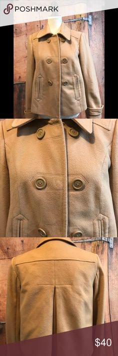 The Loft Pea Coat ❤️offers welcome❤️ NWOT Ann Taylor LOFT size 2 wool Pea coat. 80% wool 20% nylon. Inside 100% acetate. Smoke free home.  Next day shipping. Please feel free to ask any questions. Thank you for shopping my closet. Offers always welcome❤️ The LOFT Jackets & Coats Pea Coats