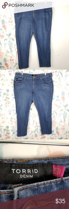 fc6f0526787 Torrid Skinny Jeans Plus Size 22 Short x 30 Blue