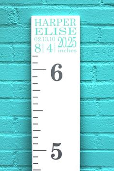 DIY Growth Chart Ruler Add-On -- Custom Personalized Decal -- Top Header -- Name and Birth Stats -- Subway Art Style