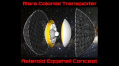SpaceX Mars Colonial Transporter Eggshell Asteroid Capture Concept