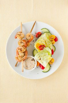 #Epicure Bali Glazed Skewered Prawns Epicure Recipes, Seafood Recipes, Cooking Recipes, Healthy Recipes, Meat Lovers, Yummy Eats, Prawn, Fish And Seafood, Tasty Dishes