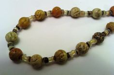 Shell and Soapstone Necklace by TripIntoLight on Etsy, $19.00
