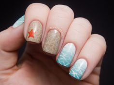 Chalkboard Nails: Beauty and the Beach