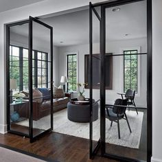 """Luxury Interior Steel Doors on Instagram: """"Not a bad way to enter a room... Double tap if you agree🔥#weldwork"""" Luxury Interior, Home Interior Design, Interior Colors, House Extension Design, House Design, Home Wet Bar, Bunk Beds Built In, Brown House, Interior Windows"""