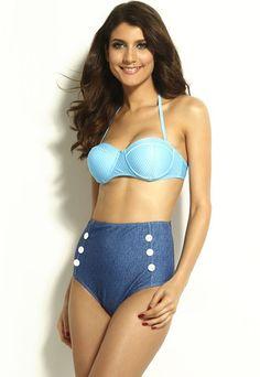 Retro Style High Wasited Bikini – eDealRetail