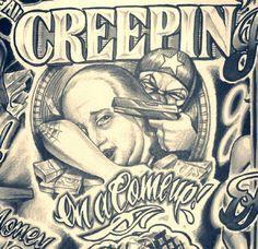 Tattoo Design Drawings Art Designs Side Body Tattoos Money Chicano Thug Life Gangster Font Script