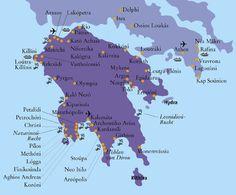 Peloponnes kaart