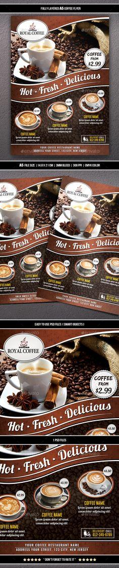 #Coffee #Flyer (A5) - #Restaurant Flyers