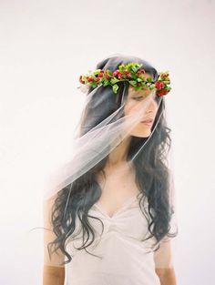/ flower wreath / flower crow / wedding / mariage / coiffure fleurie / couronne de fleurs