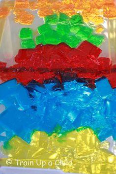 Jello Sensory Bin. Awesome idea for toddlers and preschool!