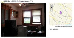 $1800 / 2br – HWD FL  I mean, it doesn't get much more descriptive than that. Luckily they've provided some blurry, backlit photos to really put you inside the apartment. What a win!  http://boston.craigslist.org/gbs/fee/4281102006.html
