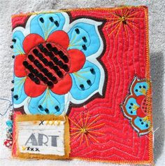 Red and Blue Flower Journal