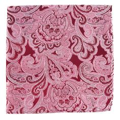 DESIGNER PAISLEY POCKET SQUARES - BURGUNDY | Ties, Bow Ties, and Pocket Squares | The Tie Bar