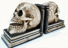 Pair of Skull Bookends