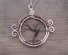 Tree of Life Winter, keltische levensboom hanger, Yggdrasil