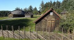Viking fence at old Viking farm