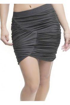 Mini Skirt With Elastic Banded Waist