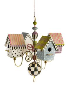 Most Popular Ideas MacKenzie Childs for Home Interior Design 10 Bird Houses Painted, Bird Houses Diy, Painted Birdhouses, Building Bird Houses, Luminaire Original, Mackenzie Childs Inspired, Mckenzie And Childs, Iron Chandeliers, Chandelier Lamps