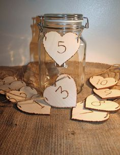 10 Wedding Table Numbers Rustic Signs Wooden by Melysweddings, absolutely perfect for the mason jars