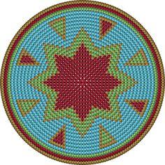 de bodem heeft 200 steken Tapestry Crochet Patterns, Crochet Mandala, Bead Loom Patterns, Stitch Patterns, Knitting Patterns, Mochila Crochet, Crochet Tote, Crochet Purses, Crochet Chart