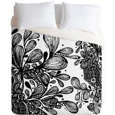 DENY Designs Julia Da Rocha Wild Leaves Duvet Cover ($160) ❤ liked on Polyvore
