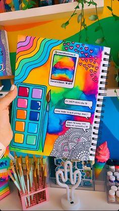 Dibujos Zentangle Art, Bullet Journal Cover Ideas, Hippie Painting, Posca Art, Mandala Art Lesson, Doodle Art Designs, Simple Canvas Paintings, Mini Canvas Art, Art Drawings For Kids
