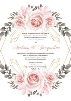 Customize this design with your video, photos and text. Easy to use online tools with thousands of stock photos, clipart and effects. Free downloads, great for printing and sharing online. A4. Tags: wedding, wedding invitation, wedding invitation template, wedding template, Wedding , Wedding