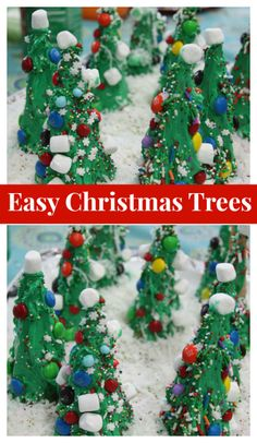 Christmas Craft for Kids: Ice Cream Cone Trees Made with Frosting #yum #christmas