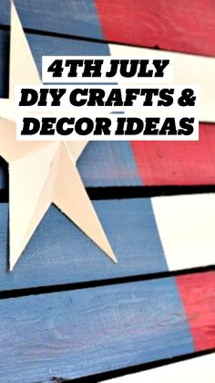 4th July Crafts, Fourth Of July Decor, 4th Of July Decorations, July 4th, Summer Crafts, Holiday Crafts, Crafts For Kids, Patriotic Party, Patriotic Crafts