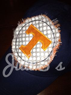 Tennessee Monogrammed Ball Cap by JilliBs on Etsy, $24.00