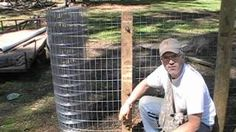 installing a welded wire fence tractor - YouTube