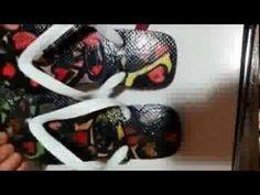 chinelosmaislindosqvi: ...customizar e reciclar um chinelo usado!...Chinelos Personalizados - Novo! - Customizado! chinelosmaislindosqvi