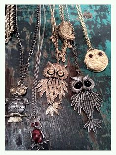 Vintage owl necklaces!