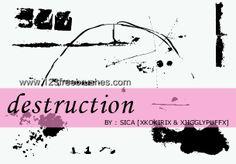Destruction Grunge - Download  Photoshop brush https://www.123freebrushes.com/destruction-grunge/ , Published in #GrungeSplatter. More Free Grunge & Splatter Brushes, http://www.123freebrushes.com/free-brushes/grunge-splatter/ | #123freebrushes